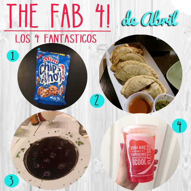FAB Abril, los 4 fantasticos, mis favoritos, libritas de mas, food blog, my favorites