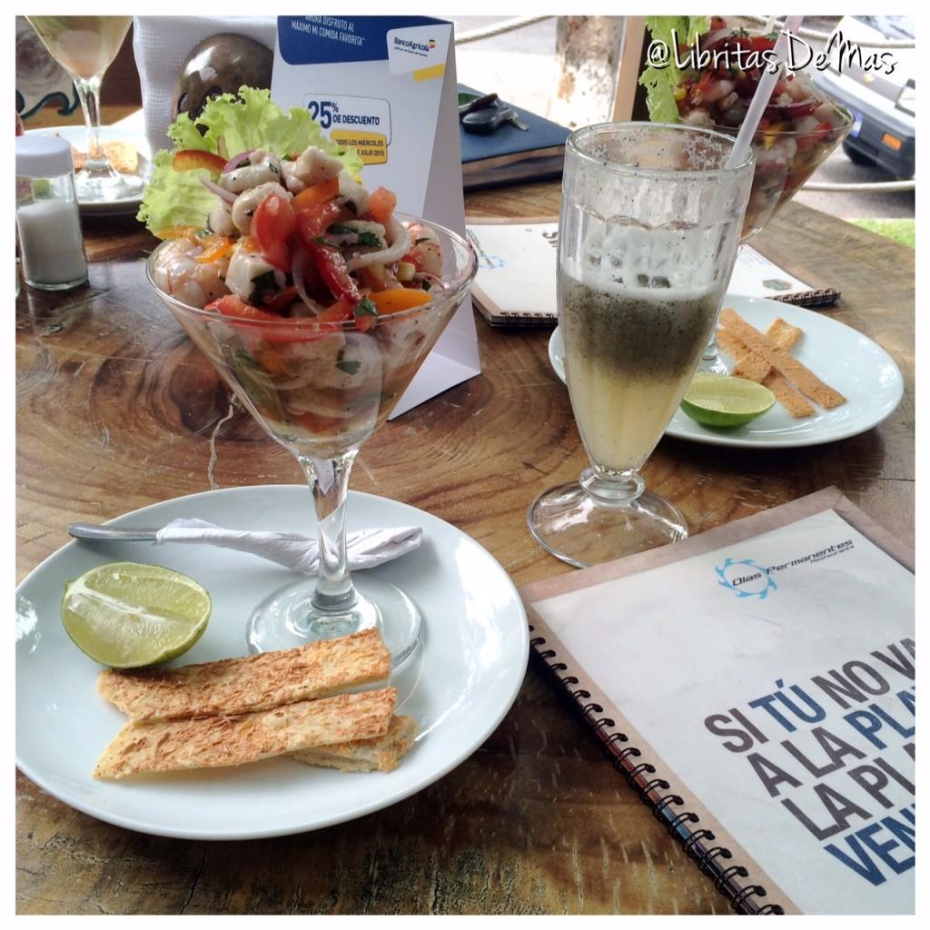 Olas Permanentes, restaurante, el salvador, beach, playa, sand, food blog, blogs el salvador, comida,  spaguetti, mariscos, camarones, seafood, calamar, ceviche