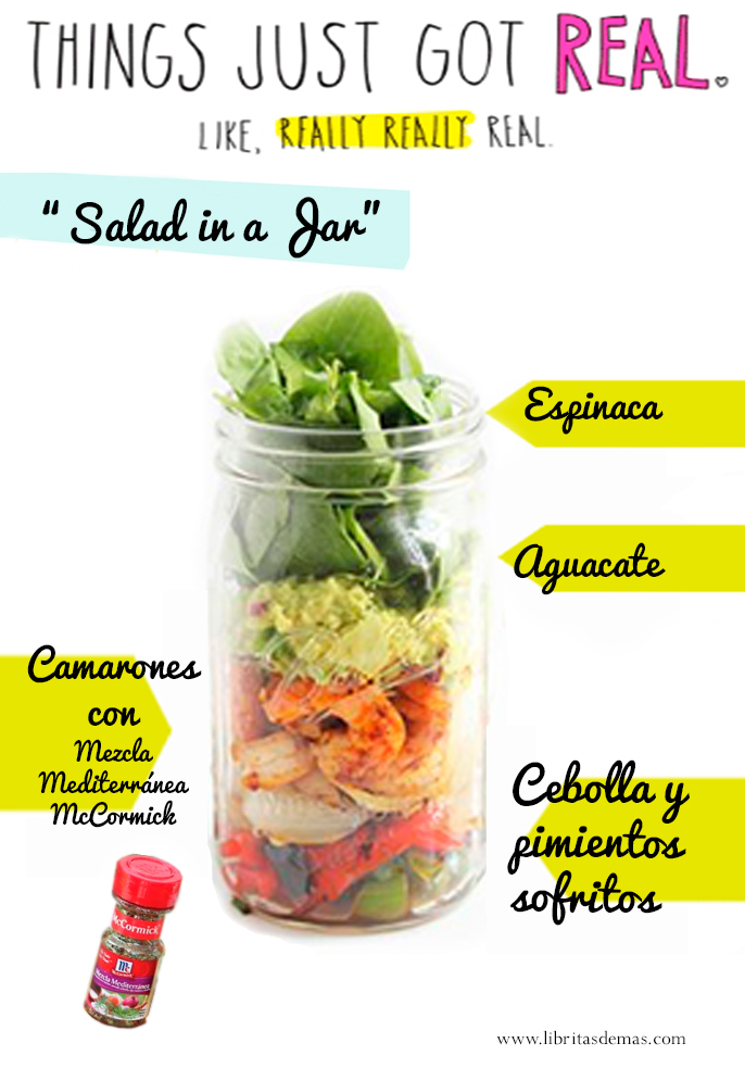 """Salad in a Jar"" #HappyRecipes"