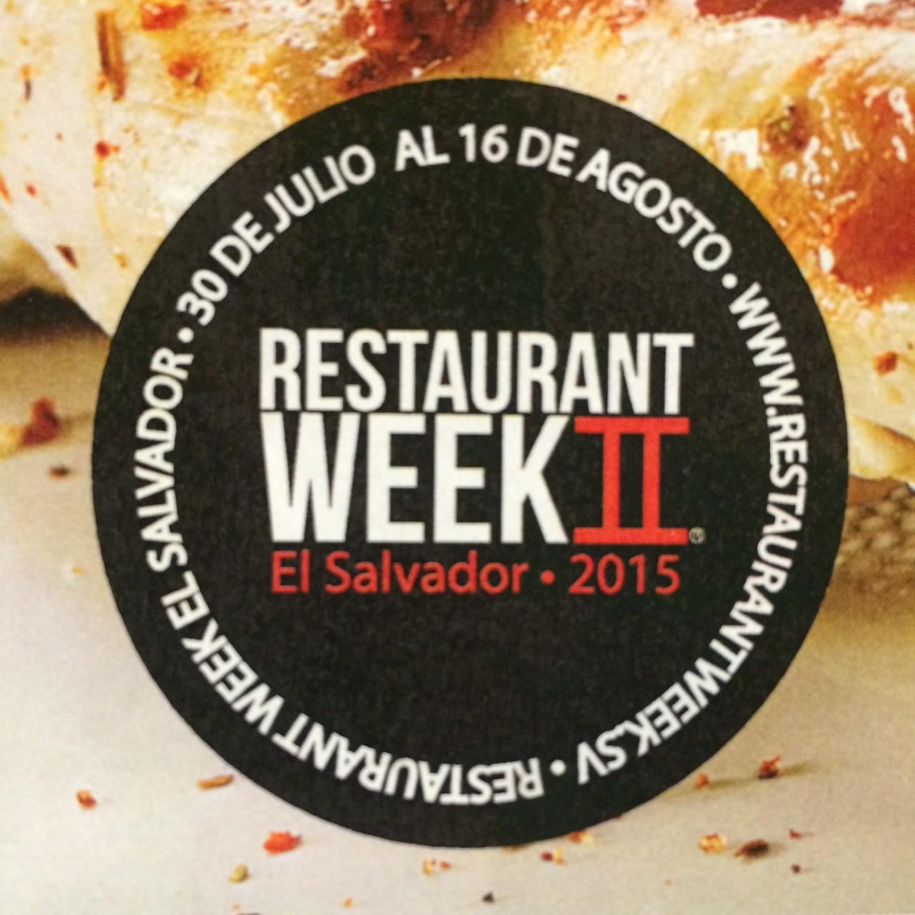 ¡RESTAURANT WEEK llega otra vez a El Salvador!
