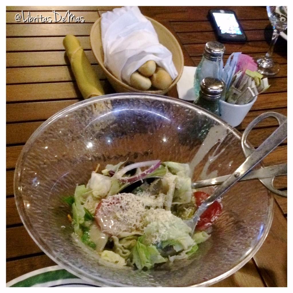 Olive Garden, El Salvador, Restaurant Week, restaurante , comida, libritas de mas, food blog, ensalada, salad