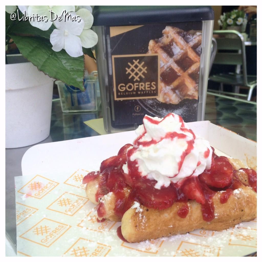 Gofres, libritas de mas, food blog, el salvador, waffles, shak y dres,  comida, salvadoreña, waffles belgicos