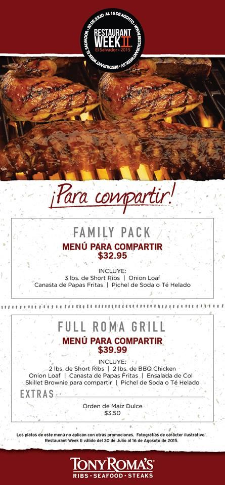 El Salvador, bloggers, restaurant week, food blog, libritas de mas, restaurante, tony romas
