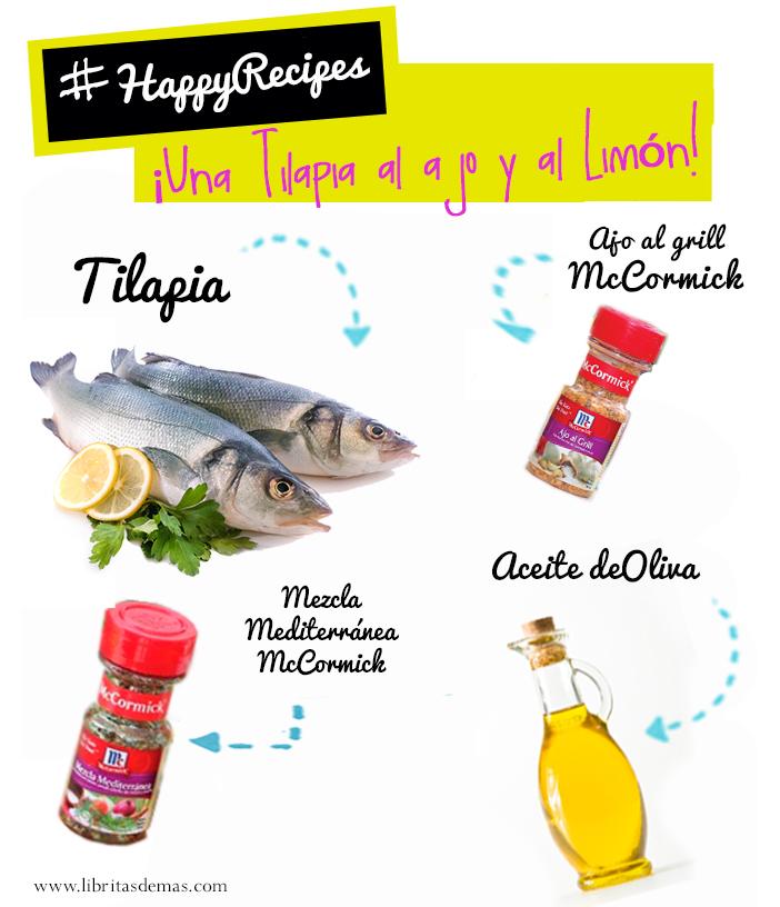 Una Tilapia al ajo y al limón en #HappyRecipes