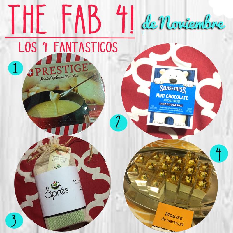 Los 4 Fantasticos… de Noviembre!